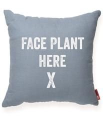 Face Plant Here Decorative Throw Pillow
