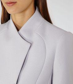 Reiss. Beautiful crepe, asymmetrical collar.
