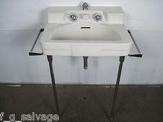 Antique Vintage Crane Bathroom Sink Shell Pink 1950\'s \'Drexel ...