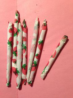 strawberry joint . roll one up please? #marijuana #ganja