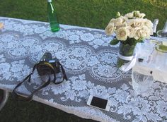 Lace picnic rug