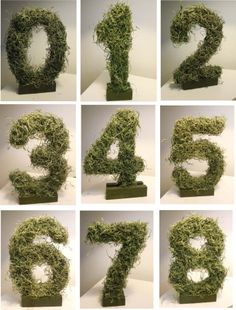 creative idea for table numbers