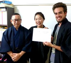 Internship in Japan @ MIZUTRANS CORPORATION  Today was the last day of Rafael from Germany at the MIZUTRANS CORPORATION. He completed a one-month internship at a Japanese company, which does translation and interpretation service in Fukuoka in Japan. We had a small certificate ceremony with lots of Sushi. Thank you very much for your good work.