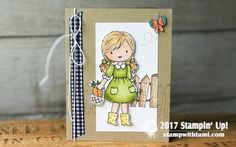 Garden Girl Stampin Blends - Crafty Stampin - Linda Cullen - Stampin Up Coffee Crafts, Paper Crafts, Diy Crafts, Alcohol Markers, Stamping Up, Kids Cards, Stampin Up Cards, Mini Albums, Card Making