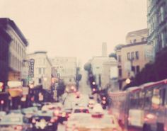 "San Francisco photo. ""rush hour SF"". fine art print. via Etsy."
