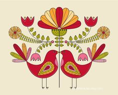 Love Birds.  A very traditional motif.