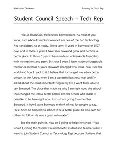 Student Council Speech