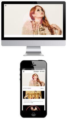 Responsive website of Debby Ryan : debbyryan.com - To get yours, visit us at msmobile.fr