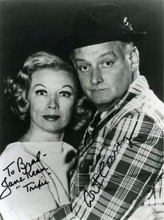 "Jane Keen & Art Carney from the tv show, ""The Honeymooners"""
