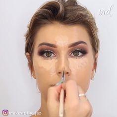 Talk about a glamour queen! I am stunned! By ausformung bemalung maquillaje makeup shaping maquillage Creative Makeup, Simple Makeup, Natural Makeup, Makeup Trends, Makeup Tips, Glam Makeup, Beauty Makeup, Mascara, Make Up Gesicht