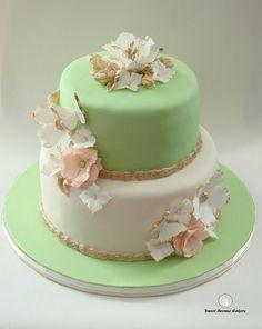 Romantic 50th Wedding Anniversary Cake