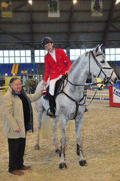 GAJ RIOSSA (slo) and VELVET BROWN win the Grand Prix CSIJ-A on Saturday Feb. 15th in Manerbio, ITA.