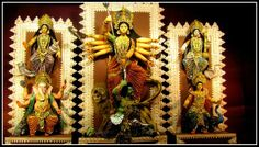 Goddess Durga with her family, Puja 2013