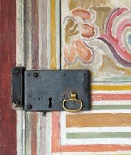 Part of a door painted in 1917 by Vanessa Bell ( sister of Virginia Woolf)
