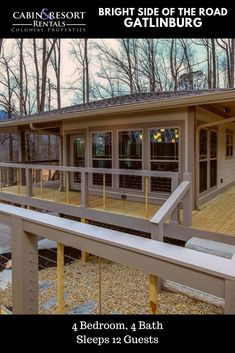 Stay downtown at Brightside of the Road! This new Gatlinburg TN cabin has a mountain view, hot tub, pool table, luxury amenities and much more!