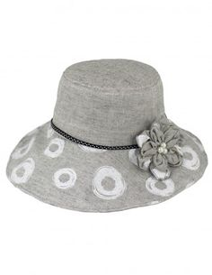 Dahlia Women's Summer Sun Hat - Dual Layer Flower Wide Brim Bucket Hat