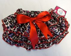 Leopard Bloomer with Red | Leopard Baby Clothes | Leopard Baby Ruffle Bloomer
