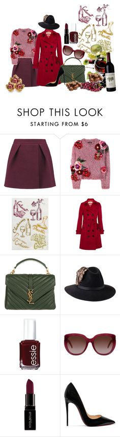 """Red Wine and Chestnuts"" by keepfashion92 ❤ liked on Polyvore featuring IRO, Dolce&Gabbana, Burberry, Yves Saint Laurent, Penmayne of London, Essie, Smashbox and Christian Louboutin"