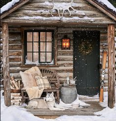 little log cabin on a winter night. Christmas is just around the corner. are you ready? Thanks to via for the cozy inspiration.The perfect little log cabin on a winter night. Christmas is just around the corner. are you ready? Winter Cabin, Cozy Cabin, Winter Snow, Winter Christmas, Cozy Winter, Christmas Time, Diy Log Cabin, Mountain Cabin Decor, Log Cabin Christmas