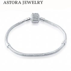 16-20CM 3MM Full Crystal Clasp Bracelet for Charms Bracelets amp Bangles European DIY Jewelry