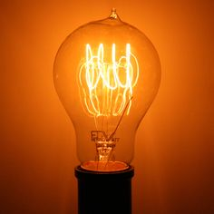 60 watt 120 volt Quad Loop Filament Medium Screw Base Ferrowatt (1920) Antique Light Bulbs, Vintage Inspired, Base, Antiques, Medium, Quad, Inspiration, Symbols, Antique Lamps