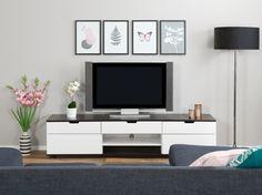 BARI TV-Taso 200 Valkoinen/Musta