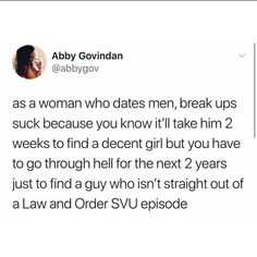 Women who date men break up meme