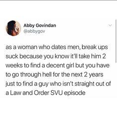 Women who date men break up meme