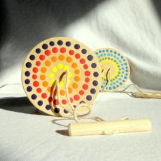Classic Children's Toy Colorful Wood Toy by WoodenHeartButtons, $12.00