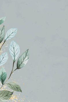 Flower Background Wallpaper, Framed Wallpaper, Cute Wallpaper Backgrounds, Flower Backgrounds, Iphone Wallpaper, Watercolor Wallpaper, Green Watercolor, Watercolor Leaves, Watercolor Background