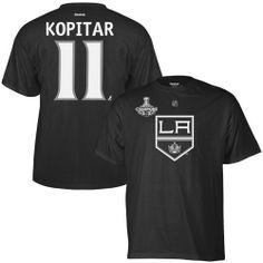 NHL Reebok Anze Kopitar Los Angeles Kings 2012 NHL Stanley Cup Final  Champions Replica T- d77e0157dd4b