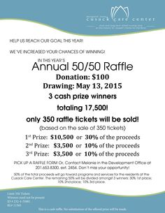 Our Annual 50/50 has officially begun! Visit our website for details and be sure to get your friends and family involved!