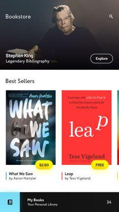 Bookstore screen
