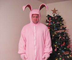 Christmas story bunny costume, Bunny costume, A christmas story, Costumes, Family christmas party, Bunny - pink nightmare costume I couldn't pass this up You can buy a similar costume online for $10 - #Christmasstory #bunnycostume