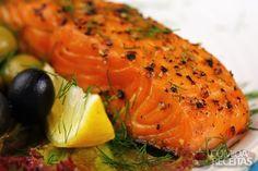 Receita de Salmão assado à provençal em receitas de peixes, veja essa e outras receitas aqui!