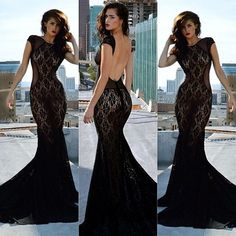 Backless Lace Dress !