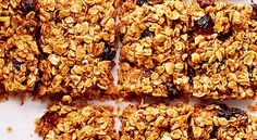 Grab and Go Cranberry Granola Bars
