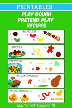 At The Restaurant Activity Bundle - Teaching Thinking Minds Playdough Activities, Educational Activities For Kids, Restaurant Themes, Lunch Box Notes, Gross Motor Skills, Play Dough, Play Food, Dramatic Play, Pretend Play