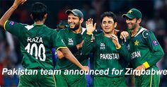 Pakistan Announces 15 member team for T20 and ODI squad against Zimbabwe, all matches will be play in Pakistan.
