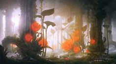 Mysterious forest, Yongsub Noh (YONG) on ArtStation at http://www.artstation.com/artwork/mysterious-forest