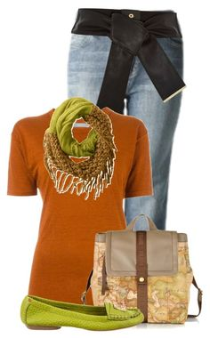 A fashion look from December 2015 featuring linen tee, stone washed jeans and stacked heel shoes. Isabel Marant, Martini, River Island, Polyvore Fashion, Tory Burch, Gardens, Orange, Bags, Canvas