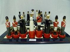 Robin & Nell Dale British Soldiers chess set