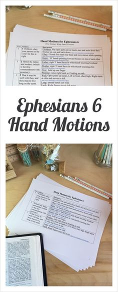 Hand Motions / Gestures to help memorize Ephesians 6.  Families use at home. Directors use in Opening Meeting at Classical Conversations, Cycle 2. Printable PDF!
