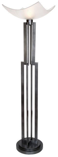 "On Command Four, Floor Lamp Torchiere 74"" H."