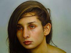 Bryan Drury (detail, oil on canvas)