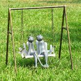 Found it at Wayfair - Frogs on Porch Swing Garden Statue