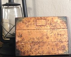 Harry Potter Map Antiqued Wooden Sign by Bestowagift on Etsy