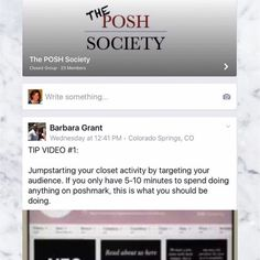 JOIN THE POSH SOCIETY ON FACEBOOK This is a great group to join if you are looking to drive up your sales! Go to www.facebook.com/groups/theposhsocietygroup. Other