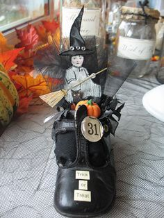 Mixed Media Witchy Vintage Shoe