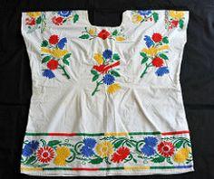 Oaxaca Mazatec Huipil (Teyacapan) Tags: flowers flores mexico clothing embroidery mexican oaxaca textiles ropa bordados huipil huautla huipiles mazatec